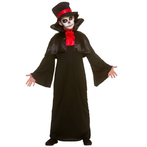 Boys Deadly Reaper Costume for Dangerous Halloween Zombie Fancy Dress